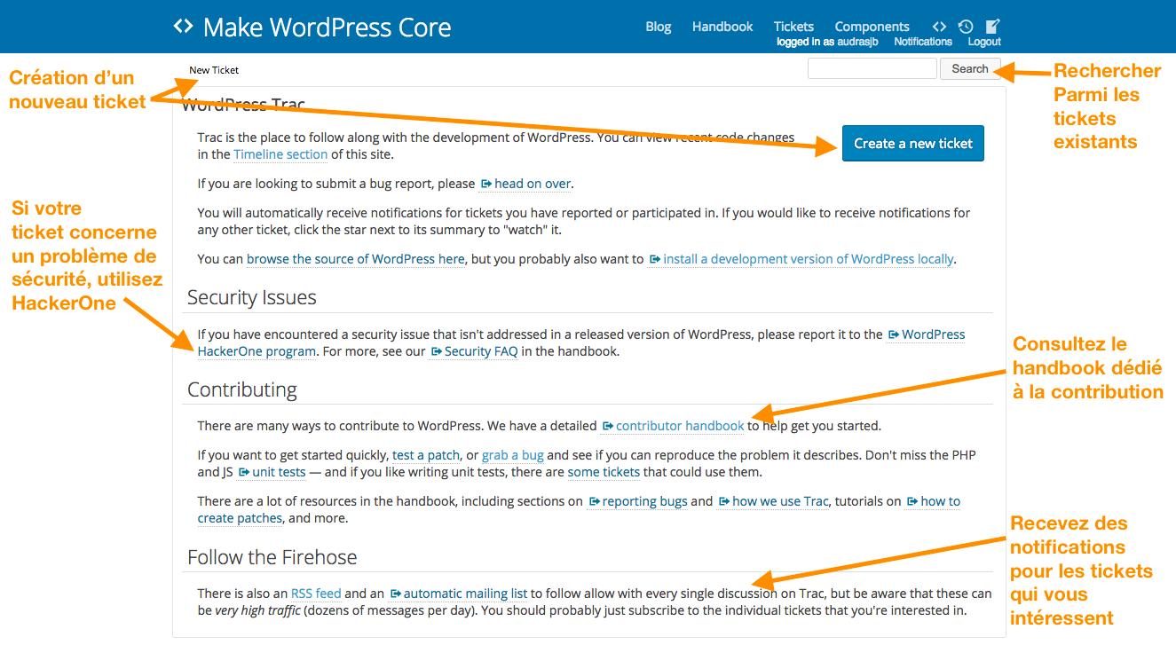 Présentation du Trac WordPress